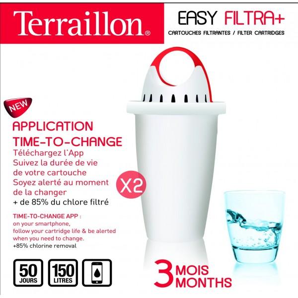 4 Filtres Carafe Terraillon Filtra+