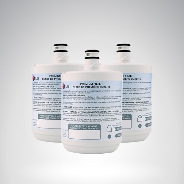 lot de 3 filtres lg lt500p filtre eau pour frigos am ricains lg 5231ja2002a. Black Bedroom Furniture Sets. Home Design Ideas